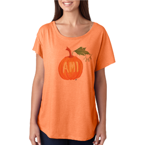 AMI Pumpkin on Orange Tee