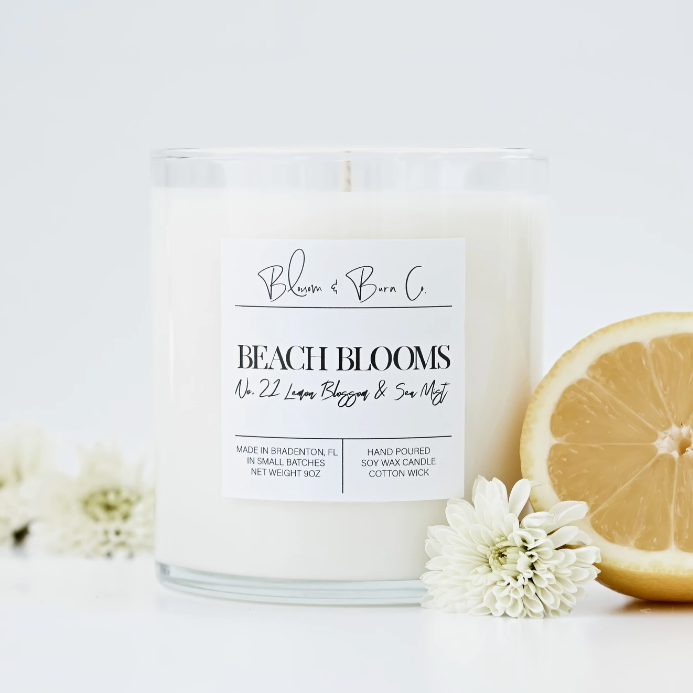 Blossom And Burn Candle - Beach Blooms