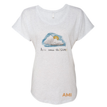 Load image into Gallery viewer, Here Comes The Sun Triblend Dolman Tee - Anna Maria Island
