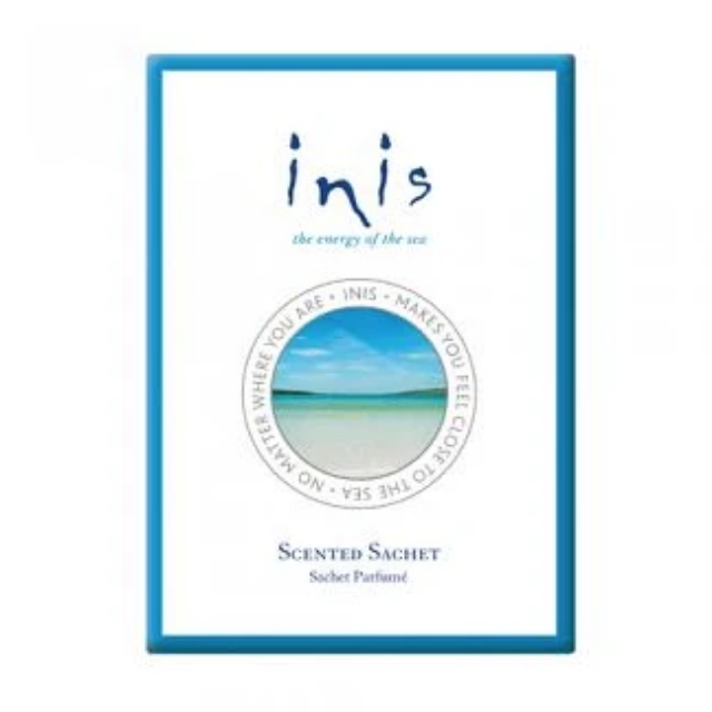 Inis Scented Sachet  With a scent as fresh and uplifting as a sunny day by the sea, now you can fragrance your home, car, handbag, drawer, office and more, all with the sparkling scent of Inis the Energy of the Sea.  Features & Benefits Made in Ireland Paraben free Never tested on animals