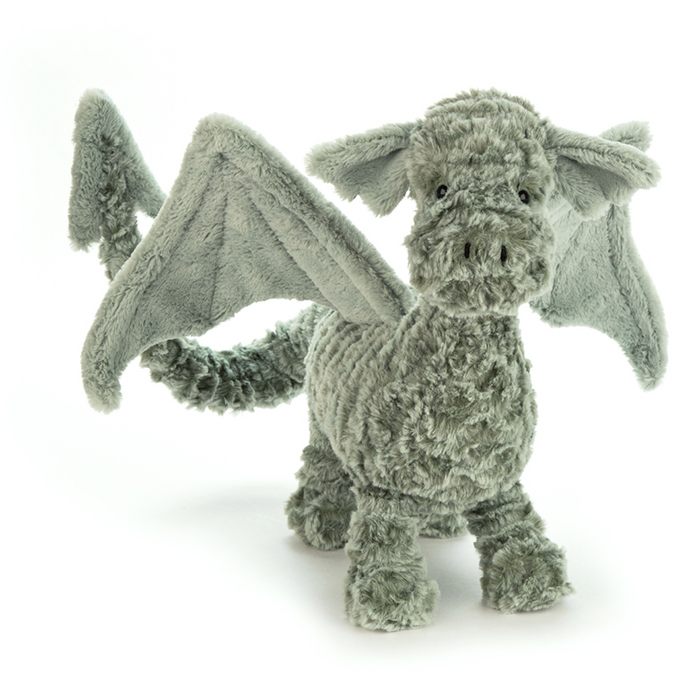 Stuffed green dragon - Jellycat Little Drake Dragon
