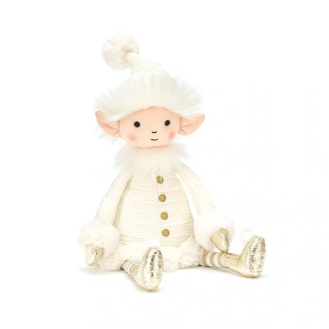 elf stuffed animal. all cream colored