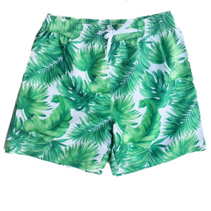 Men's Palm Printed Swim Shorts