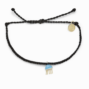 Pura Vida Jellyfish Charm Bracelet In Black