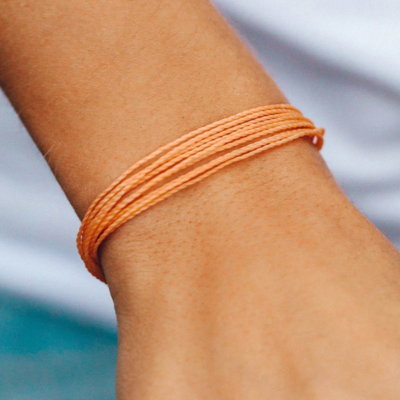 Pura Vida Original Bracelet in Peach