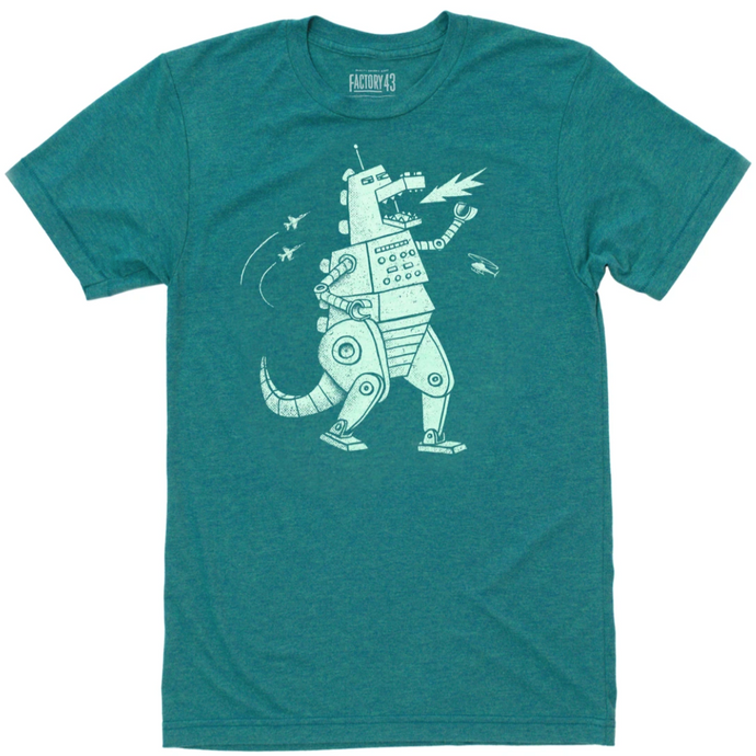 Robozilla Tee Kids Factory 43 Green