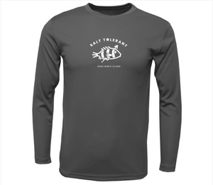 UPF Long-Sleeve Salt Tolerant Dry Fit Shirt Grey