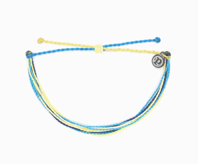 Pura Vida Charity Bracelet for Water- Bracelet with green and blue strands
