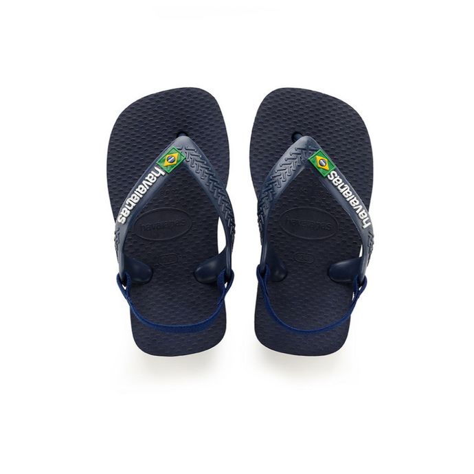 havaianas kids baby navy blue brazil sandals