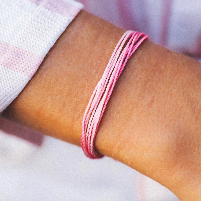 Pura Vida Breast Cancer Bracelet