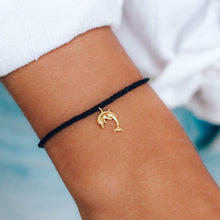 Load image into Gallery viewer, pura vida gold dolphin charm bracelet