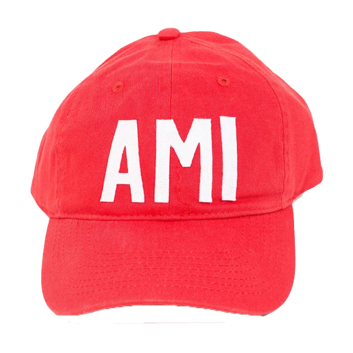 red ami baseball cap