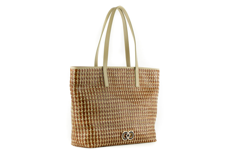 CA 1244 | WOVEN LEATHER & RAFFIA | TERRA MULTI - Calonge