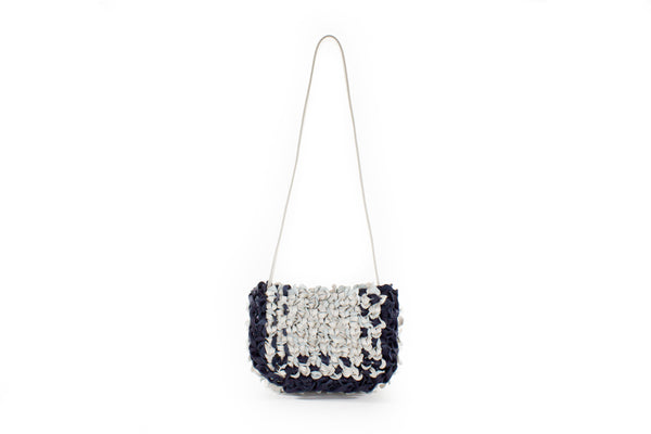 CA 1458 | BIG IRIS | OFF WHITE & NAVY - Calonge