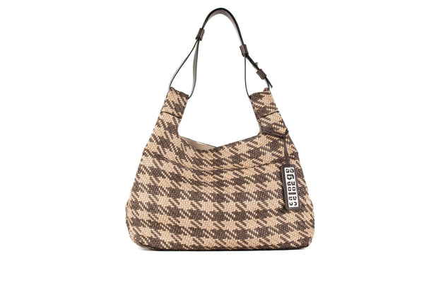CA PVB 131 | WOVEN HOUNDSTOOTH | TAUPE MULTI - Calonge