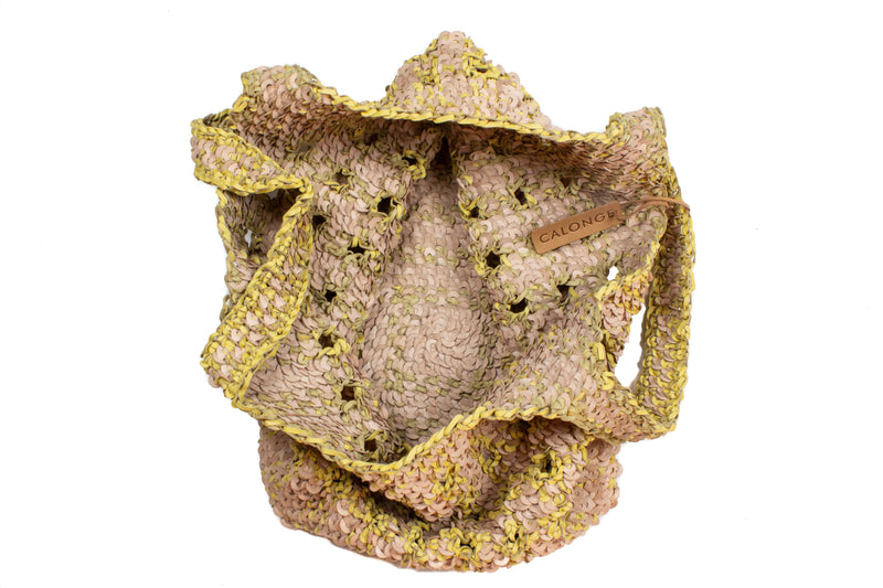 CA PVB 141 | CANOPY IRIS weave | NATURAL YELLOW - Calonge