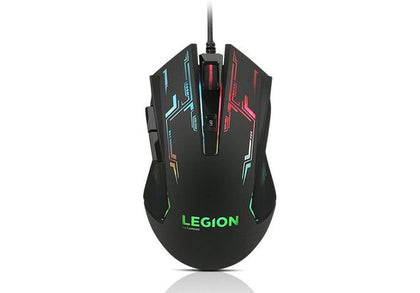 LENOVO LEGION M200 | RGB Gaming Mouse, 2400 DPI With On-The-Fly Switch, 6 Button Design, Precision Wheel With Backlight
