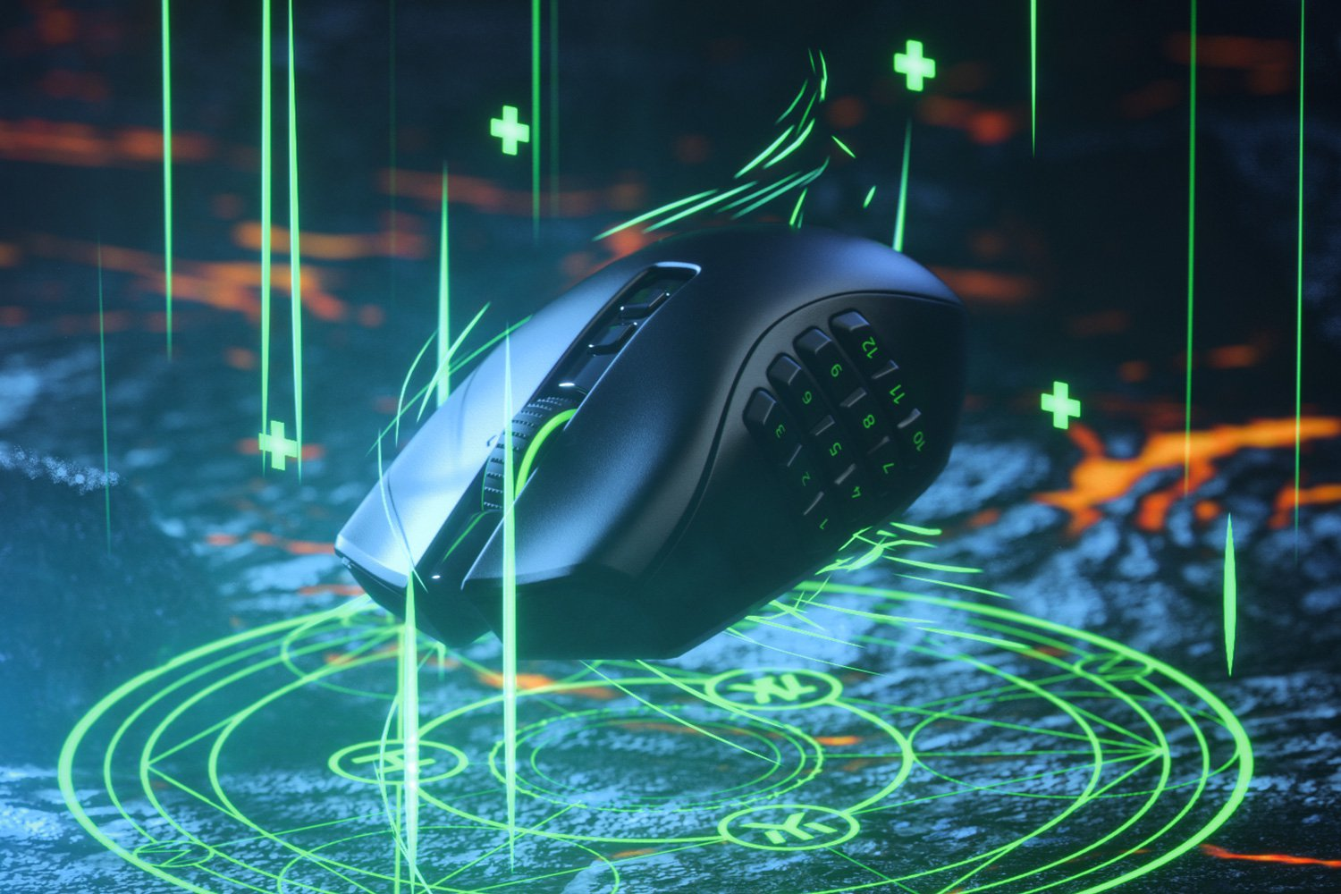 RAZER NAGA PRO - RZ01-03420100-R3G1 | Modular Wireless Gaming Mouse, 3 Swappable Side Plates, 3 Modes Of Connection,  (19+1) Programmable Buttons, Razer Focus+ 20K DPI Optical Sensor