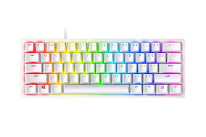 RAZER HUNTSMAN MINI - RZ03-03390300-R3M1 | Mercury 60% Optical Gaming Keyboard, Razer Optical Switches ( Light And Clicky ), Doubleshot PBT Keycaps, Detachable Type C Cable