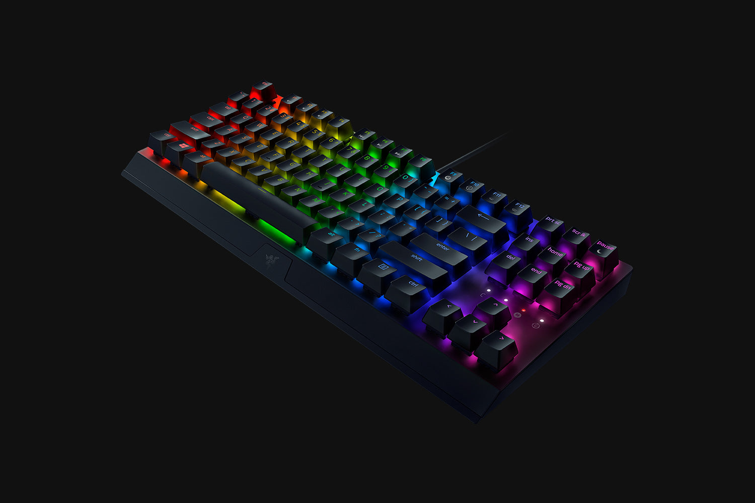 RAZER BLACKWIDOW V3 TENKEYLESS-RZ03-03490100-R3M1 | Mechanical Gaming Keyboard, Compact Form Factor, Cable Routing Options, Engineered For Durability, Fully Controllable Keys, Powered By Razer Chroma RGB, Razer Green Switches Tactile And Clicky