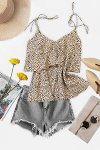 Two Tier Leopard Cami Top - Olive & Sage Boutique