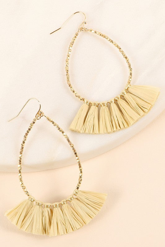 Tassel Tear Drop Earrings - Olive & Sage Boutique