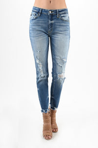 KanCan Benny High Rise Girlfriend Skinny - Olive & Sage Boutique