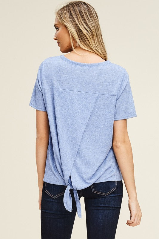 Tie Back Tee - Olive & Sage Boutique