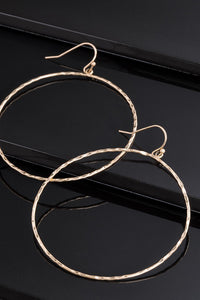 Hammered Metal Hoops - Gold - Olive & Sage Boutique