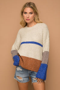 Colorblock Sweater - Olive & Sage Boutique