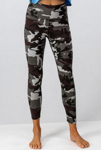 High Waisted Camo Leggings - Olive & Sage Boutique