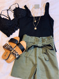 Square Neck Knit Cami - Olive & Sage Boutique