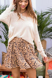 Tiered Leopard Print Skirt - Olive & Sage Boutique