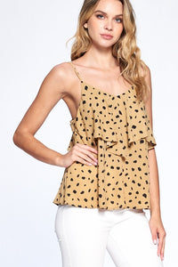 Two Tier Dotted Cami Top - Olive & Sage Boutique