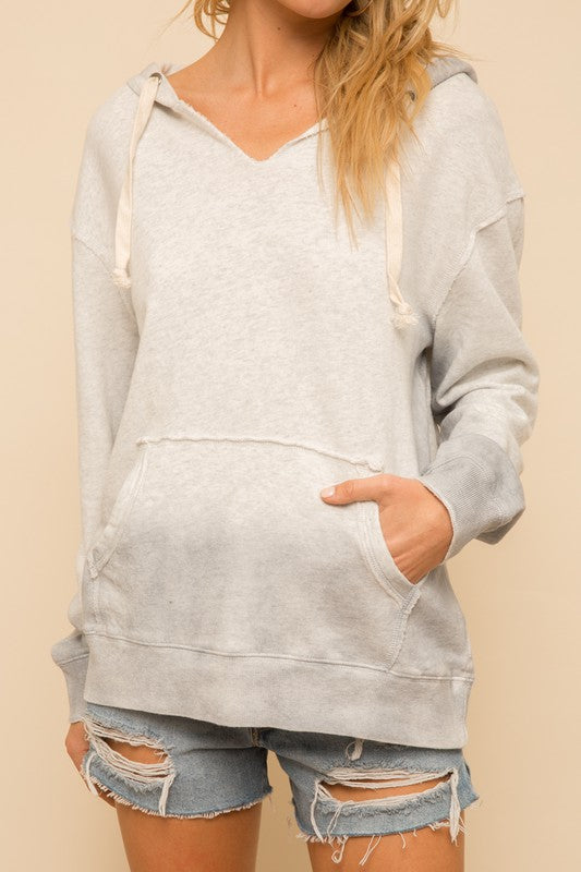 Two Tone Oversized Hoodie - Olive & Sage Boutique