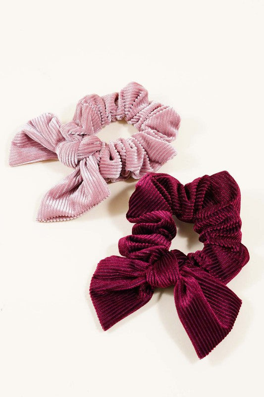 Velvet Bow Scrunchies - Olive & Sage Boutique