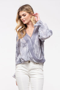 Tie-Dye Surplice Top - Olive & Sage Boutique