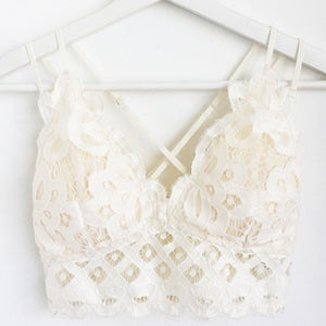 Crochet Lace Bralette - Off White - Olive & Sage Boutique