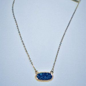Colored Druzy Necklace - Midnight Blue - Olive & Sage Boutique