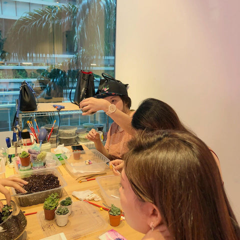 Private Terrarium Workshop for Bridal Hens Night Party by Lush Glass Door 2