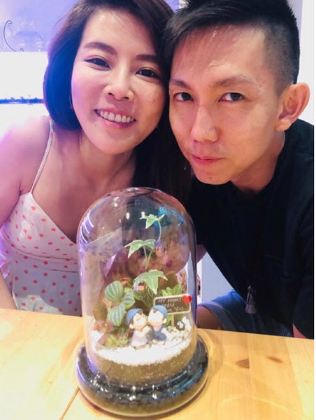 couple terrarium workshop at Lush Glass Door for birthday
