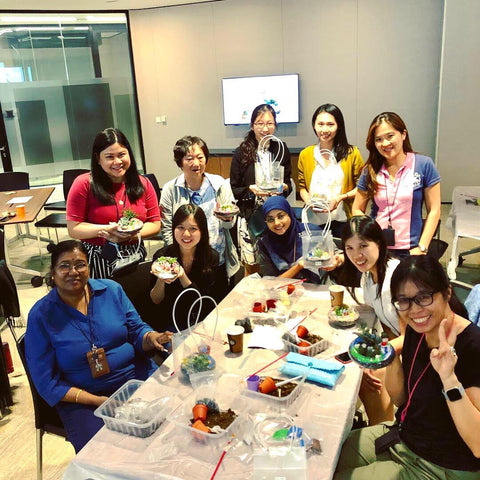 Corporate terrarium workshop conducted at PricewaterhouseCoopers
