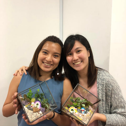 Terrarium Workshop conducted by Lush Glass Door with NTU Alumni