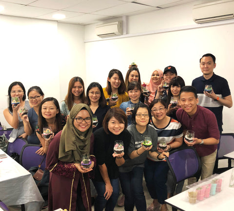 Terrarium Corporate Workshop Team Bonding with Trusted Source Pte Ltd by Lush Glass Door 7