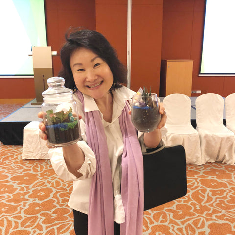 Lush Glass Door hosted a corporate terrarium workshop for Singapore General Hospital SGH annual staff retreat 10