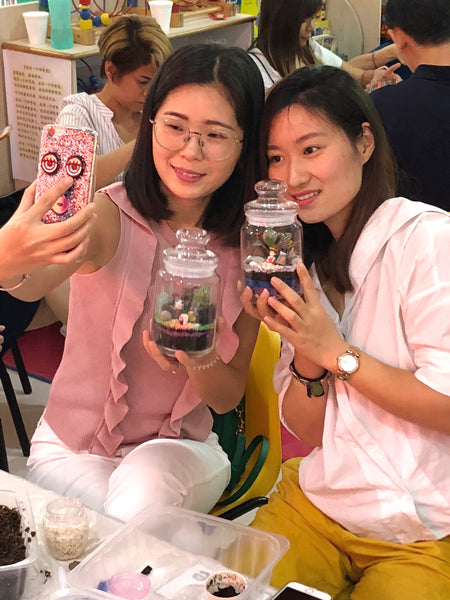 Terrarium Workshop Team Bonding with Blossom Edugroup by Lush Glass Door