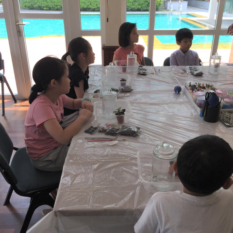 Private Terrarium Workshop for Kids Birthday Party