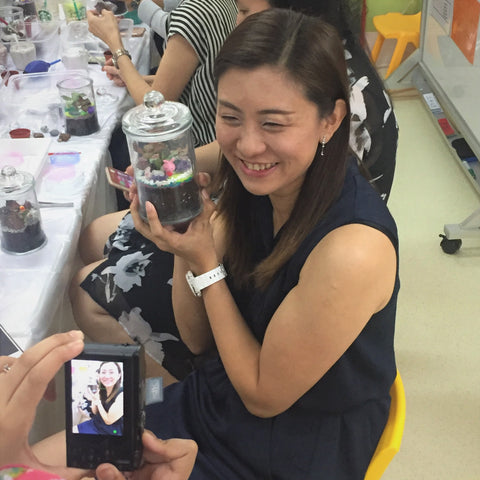 Build A Terrarium Workshop for Teachers at Cherie Hearts Bedok Central