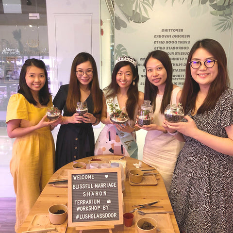 Bridal Party Hen's Night Terrarium Workshop Activity