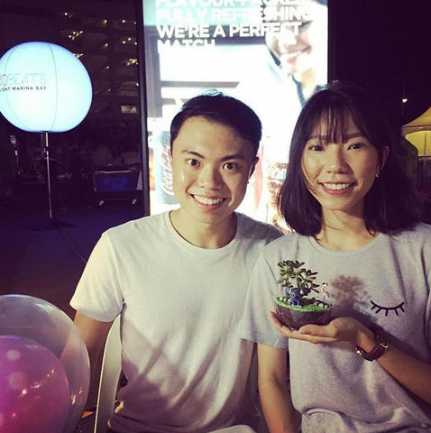 Terrarium workshop at ilight festival singapore 2017 Marina Bay Sands